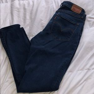 High rise super skinny dark wash Levi's